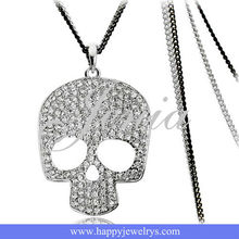 Diamond Necklace White Gold Skull and Crossbones necklace KC492-1