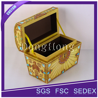 Unique jewelry suitcase fashion design cardboard jewellery box