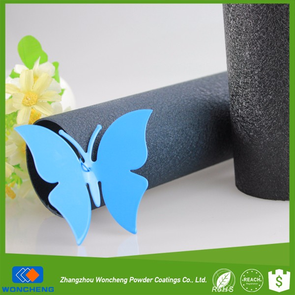 Black Blue Glittering Leather Effect Polyester Powder Coating