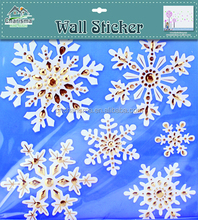 Christmas sticker Snowflake 3d kids wall/window decal