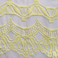 Nylon polyester knitted lace voile net fabric market in Dubai