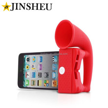 Wholesale cheap silicone horn mobile phone external loud speaker