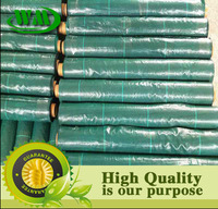 landscape weed control fabric with green line