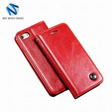 Genuine Leather mobile phone case with card slot wallet case cover for iphone 5 5s case