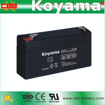 6V 1.3ah lead acid agm rechargeable battery