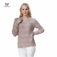 Wholesales wool handmade sweater woolen sweater designs for ladies Women Pullover knitting Sweater