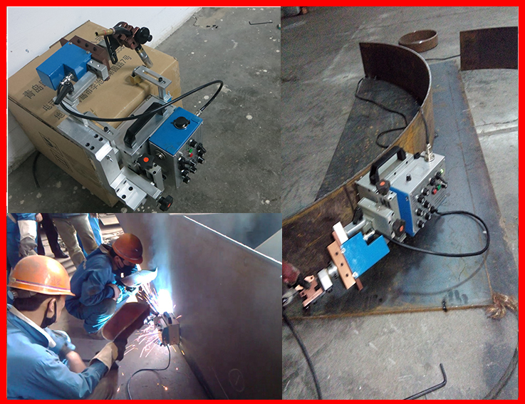 Convenient 10.6KG portable auto welding carriage arc seam track welding machine price