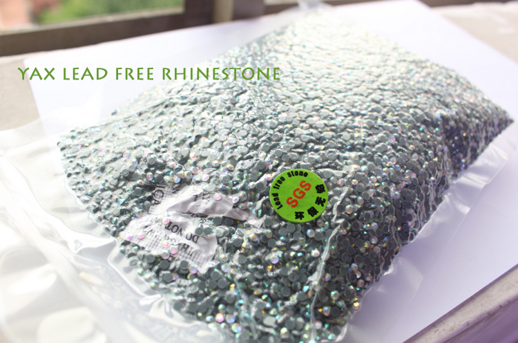 Eco-friend less than 90ppm lead free rhinestone,rhinestone korean low lead,korean stone low lead for baby clothing