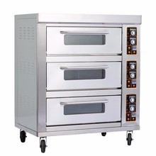 Commercial Bakery Equipment Stainless Steel 1 2 3 Layer Bread Pizza Electric / Gas Baking Bakery Ovens