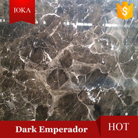 Polished Light and Dark Emperador Marble Tile