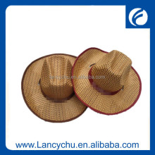 Summer Fashion cheap mens Folding Cowboy straw Hat For Wholesale