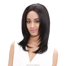Rebecca Brazilian Remy Natural Human Hair Lace Front Short Straight Bob Wigs For Black Women