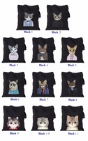 TT0068 Reshine Zipper Closure Wholesale Meow Star Design 12oz Cotton Canvas Tote Bag Girls Handbag
