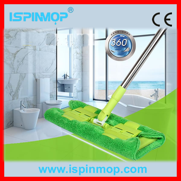 ISPINMOP green colour Universal Microfiber Flat Mop refill