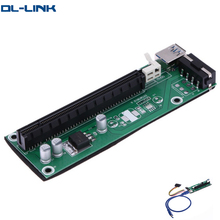 U30 Spot delivery Green Ver003 4pin to Sata USB 3.0 pci to isa ard express x16 riser card
