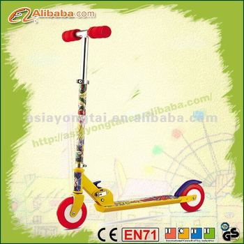 Popular two wheels 50% aluminum kids kick scooter, high quality foot scooter,