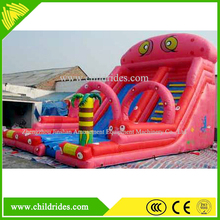outdoor fun water game inflatable jump slide, exciting kids game inflatable water slide for sale