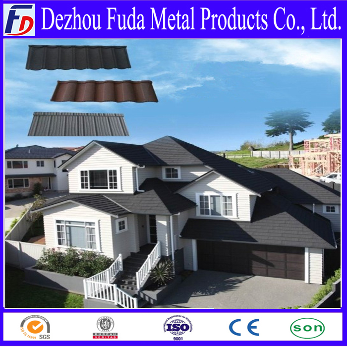 galvanized color metal roofing sheet, stone roofing tile, stone coated roofing sheet