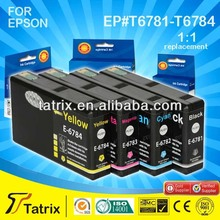 Brand New Compatible Ink Cartridge Inkjet for Epson T6781/2/3/4 B C M Y with CE,SGS,STMC, ISO certificates