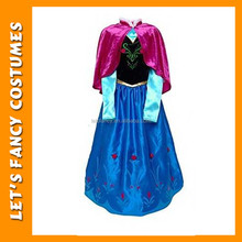 PGCC-2646 fashion cheap wholesale elsa dress cosplay costume with cloak wholesale children party frozen costume