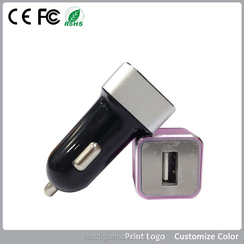 promotional logo customised portable usb car charger,portable car battery charge
