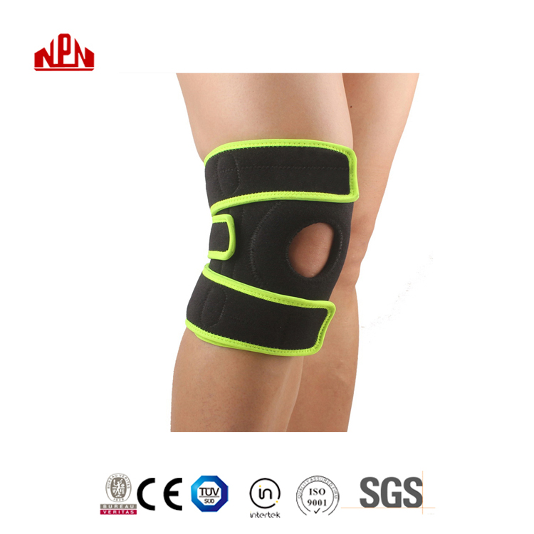 DQ Hot Sale Heating Sports inflatable basketball <strong>protective</strong> compression soft elastic knee brace pad Support Brace
