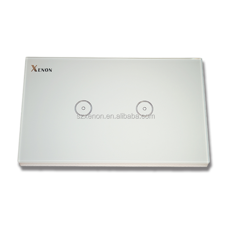 US Glass touchlight wall <strong>switch</strong> APP remote control no need hub 10A 2 gang 1 wang 2.4G Wifi wall <strong>switch</strong>