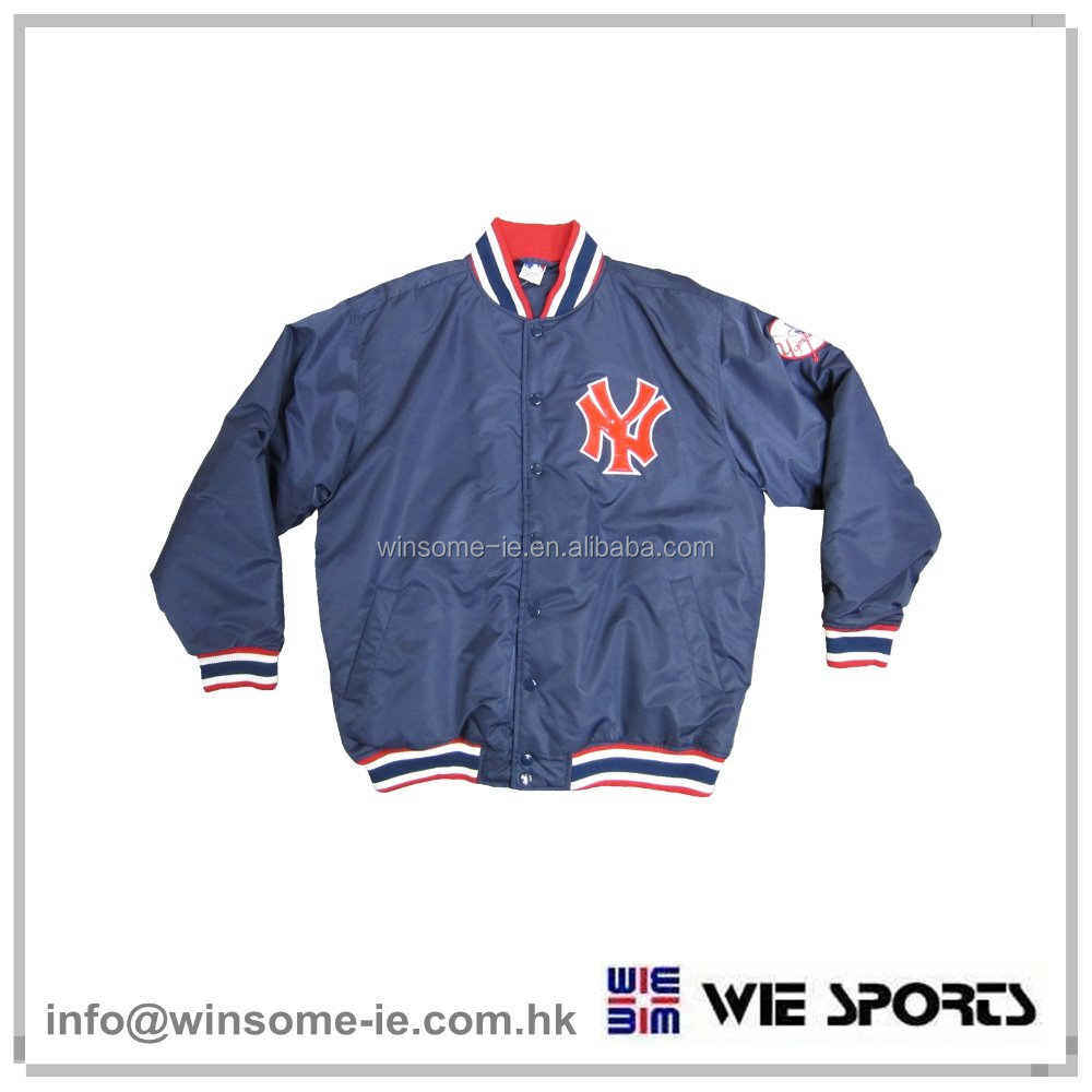 Trendy Well-made Unisex100% Polyester embroidery varsity jacket
