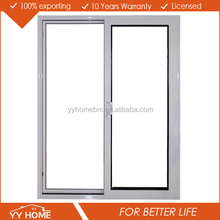 YY Home Water proof pickproof energy saving China top brand plastic frame frost glass sliding door price