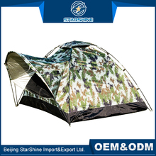 Custom 1-2 People Single Travelling Outdoor Hiking Tents Front Hall Shelter Windproof Camping Tent