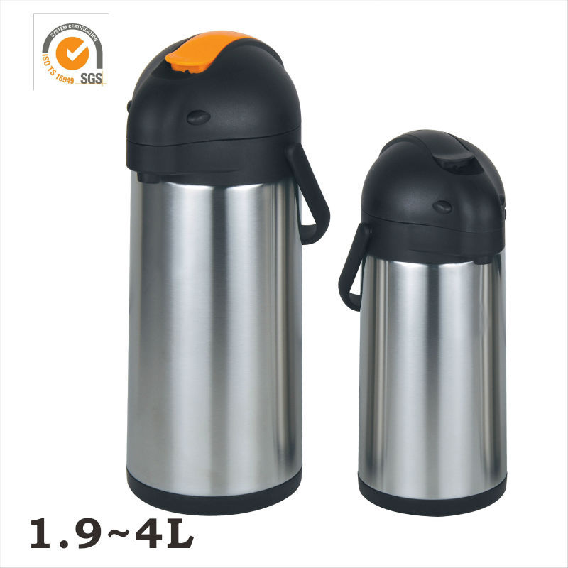 Double Walled Stainless Steel 3.0 Liter 106 Oz vacuum flask air pot