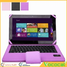 PU Leather Bluetooth Keyboard Touchpad Portfolio Stand Case Cover for Microsoft Surface 3 10.8 Inch Tablets