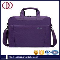 "14"" purple high quality waterproof briefcase and fancy laptop bag for ladies"
