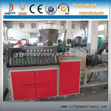 conical twin-screw plastic extruding machine for PVC square profile pipe/tube
