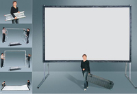 HDMI mechanical projector screen fast folding projector screen