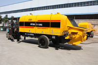 electric motor trailer mounted concrete pump