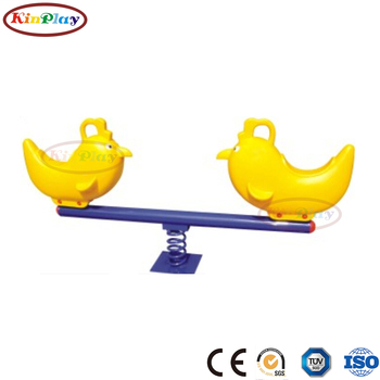KINPLAY brand outdoor playground equipment galvanized colorful seesaw