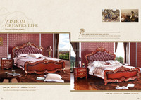 Classic genuine leather expensive bedroom furniture