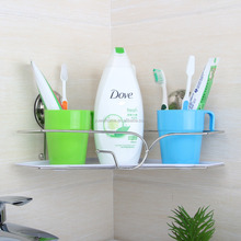 Kitchen Accessory Magic Sticky Corner Metal Rack Metal Shampoo Holder