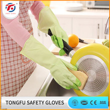 durable colorful long sleeve household rubber glove