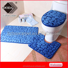 Non-slip Memory foam bathroom Pebble stone floor mat