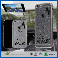 C&T Super sticky on glass hard clear pc epoxy gel skin printing case for iphone 6plus