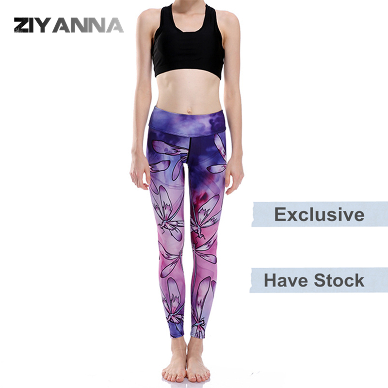 (Factory OEM/ODM/stock)New style quick dry polyester tight runner sports gym seamless leggings high waist printed yoga pants