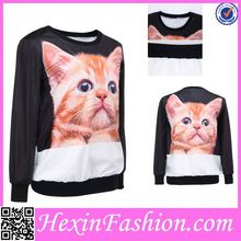 Lovely Cat No Zipper Hoodie Wholesale