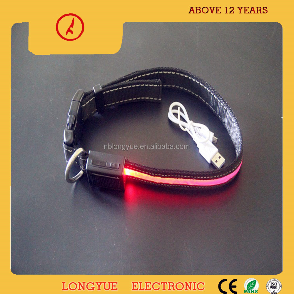 wholesale for solar panel & USB rechargeable luminous dog collar