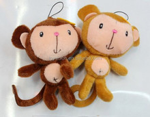 2016 Little mascot monkey stuffed animal for sale