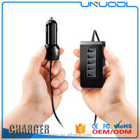 Multi USB travel Charger 5 port car charging station for mobile phone