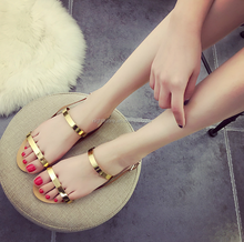 2016 summer new casual Roman thong flat women sandals