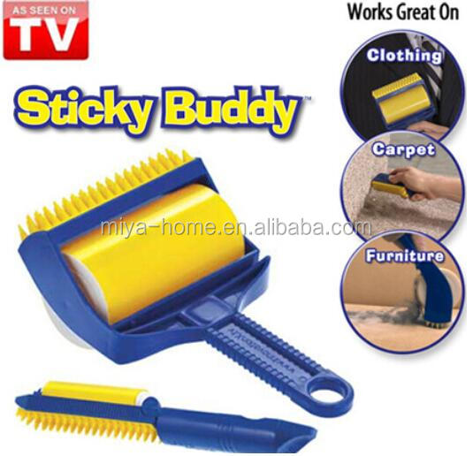 Alibaba express washable pet brush / sticky buddy / sticky roller