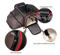 Airline Approved Two Side Expansion Expandable Pet Carrier Soft Sided Dog Carrier